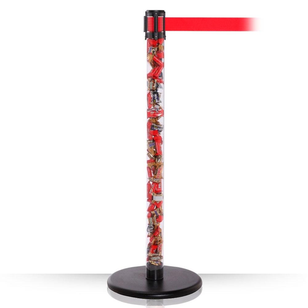 Столбик с вытяжной лентой ArtBarrier SEO (лента 3,65 м)