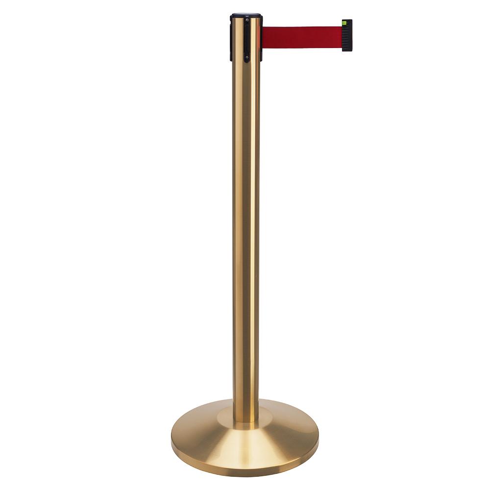 """Стойка с вытяжной лентой Barrier Belt 02  """"Золото"""" (лента 2,5 м)"""
