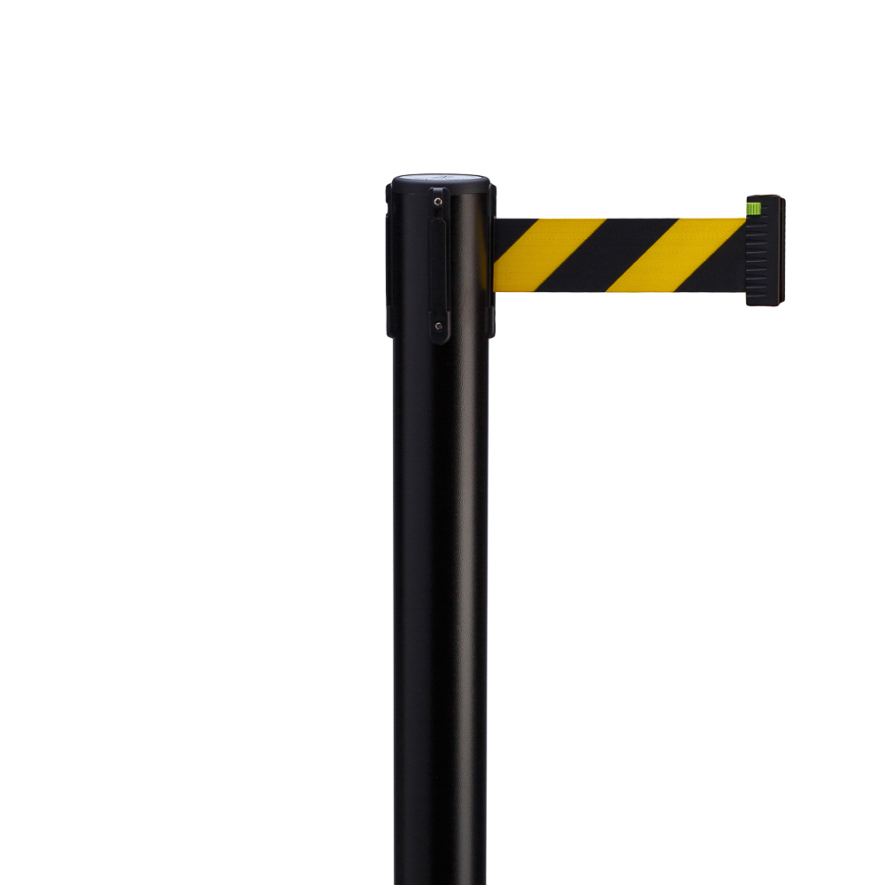 Стойка с вытяжной лентой ArtBarrier Black (лента 2,5 м)